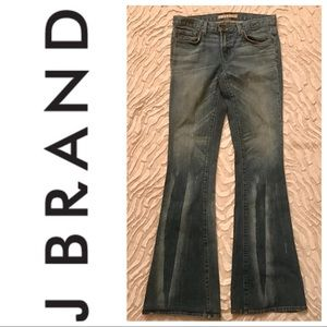 J Brand | Babe Bell Bottom Distressed Jeans, Sz 28